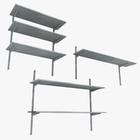 metal wall shelving units 3d model