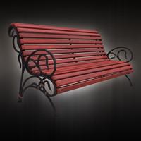 park bench 3d max
