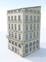 neoclassical building details 3d obj