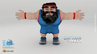 captain shady man 3d model