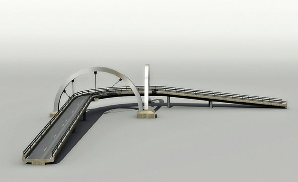 3d model highway bridge - Highway bridge... by Hespasoft