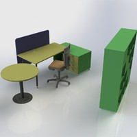 3d model furniture office