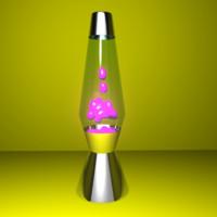 lava lamp 3d ma