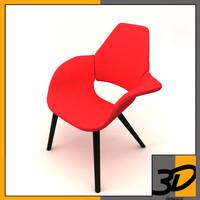 3d organic chair charles