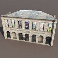 3d 3ds gallery museum modelled