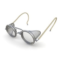 retro safety glasses 3d model