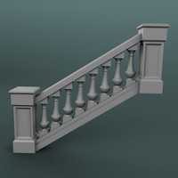 maya staircase balustrade
