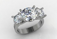 Three stones diamond ring