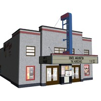 3d cinema building