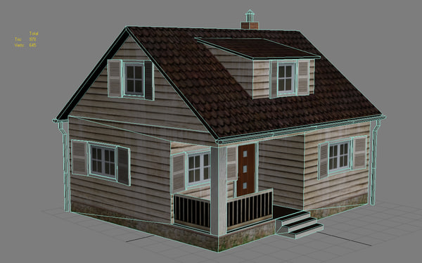 wooden house obj - House - low poly... by Seth2200