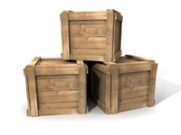 3d model stack simple crates