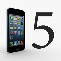 3d apple iphone 5 black
