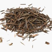 Wooden Plank Lumber Sawdust Debris (2)