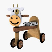 3d 3ds child cow bike