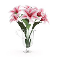 s pk lilies vase
