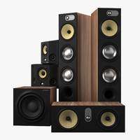 bowers wilkins 683 theater 3d model