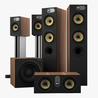3d bowers wilkins 684 theater model