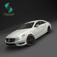 mercedes benz cls amg 3d model