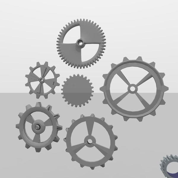 5 gears 3ds - Cogs and Gears Collection 5.0... by MP Design