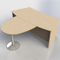 3ds max office table