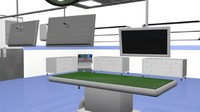tech hospital operation room c4d