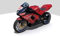 3d model kawasaki ninja redline knox