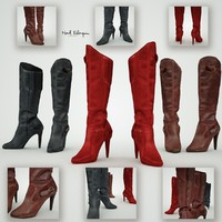 leather boots 3d obj