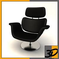 armchair chair tulip 3d obj