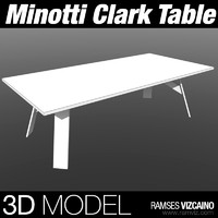 minotti clark table 3d max