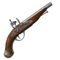 antique pirate gun 3d obj