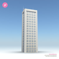 3d model of skyscraper 15 day night
