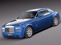 3d model rolls royce phantom coupe