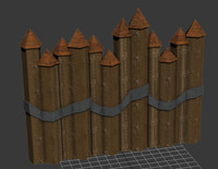 spiked fences 3d model