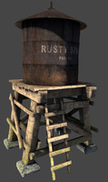 3ds max roof water tower