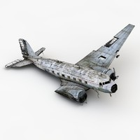 3d damaged airplane