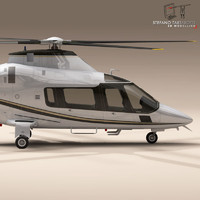 aw109 helicopter 3d 3ds