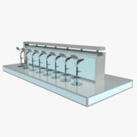 modern bar 3d max
