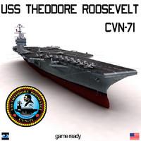 3d uss theodore roosevelt cvn-71 model