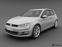 volkswagen golf 3 doors 3d model