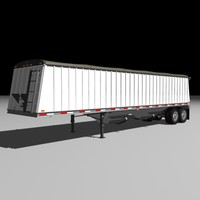 jetco grain semi trailer 3d model