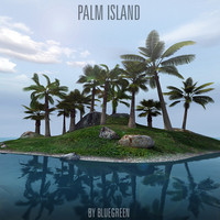 lonely island palm trees c4d