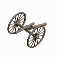 3d model field artillery piece