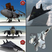 3d fighters jet model