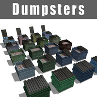 3ds max dumpsters contains