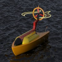 futuristic boat max
