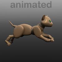 3d robot cat model