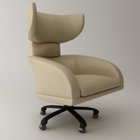 3ds max chair armchair wing