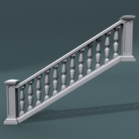 3d staircase balustrade
