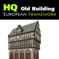 3d old european building model