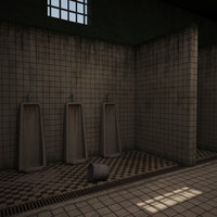 3ds max bathroom prison bath